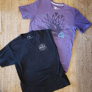 Two Mens Medium Tshirts RVCA & Quicksilver